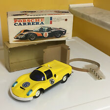 NOMURA VINTAGE BATTERY OPERATED PORSCHE CARRERA 100% OPERATIONAL WITH BOX!!