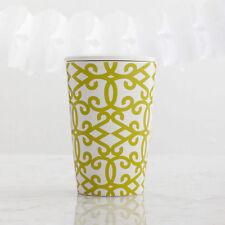 Starbucks Tazo Rococo Pattern Ceramic Tea Mug Tumbler W/Lid 12 fl oz