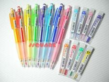 8 Colors Set, Pilot 0.7mm Color Eno Colored Mechanical Pencils + Pencil Leads
