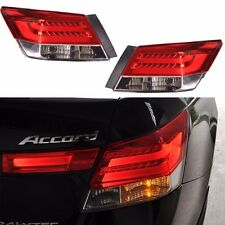 New Set of 2 Rear Led Brake Tail Lights for 2008-2012 Honda Accord 4 Door Sedan