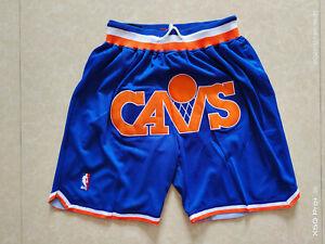 New Cleveland Cavaliers Blue Retro Men Basketball Shorts Size:S-XXL