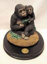 Earth Home Endangered - Gorilla & Baby Sculpture Animal Figurine