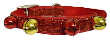 "Ancol Christmas Party Fun Dog Collar Festive Bells 29cm - 39cm S/M 10"" - 16"""