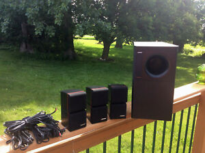 BOSE Acoustimass 7 Home Theater Subwoofer w / 3 adjustable Double Cube Speakers
