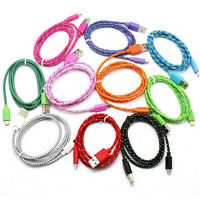3FT/1M Braided Fabric USB Data&Sync Charger Cable Cord For Samsung iPhone 4 4S
