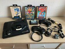SEGA Mega Drive 16-Bit Konsole + Controller  + 4 Spiele (Sonic) !! TOP!