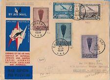 AIRMAIL 1st FLIGHT COVER - LONDON/BRISBALE - Belgium - IMPERIAL AIRWAYS 1934
