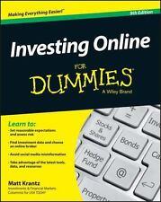 INVESTING ONLINE FOR DUMMIES - KRANTZ, MATT - NEW PAPERBACK BOOK