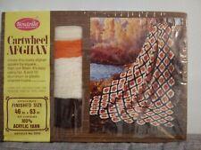 "Cartwheel Afghan Kit 2040 46"" x 63"" Acrylic Afghan Crochet Yarn - New"