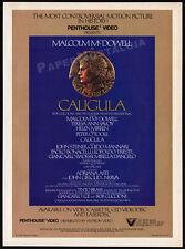 Penthouse - CALIGULA__Original 1984 print AD / video promo__MALCOLM McDOWELL