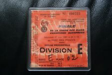 Real Madrid v Liverpool 1981 European Cup Final Ticket Coaster