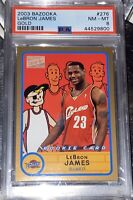 LOW POP!! 🔥2003 LeBron James TOPPS BAZOOKA GOLD ROOKIE #276 PSA 8 BGS RC lakers