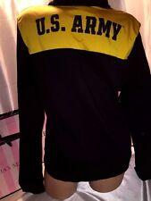 Victorias Secret PINK Army Half Zip Sequin Logo Small
