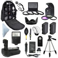 Canon 7D Digital SLR Battery Grip + Backpack + LP-E6 Camera Accessory Bundle