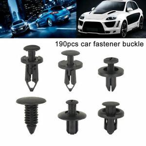 190X Car Plastic Trim Clips Set Push Fastener Retainer Door Panel Fender Rivets