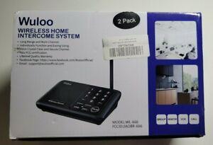 Wuloo Wireless Home Intercom System 2 Pack WL-666 Black Multi Channel Long Range