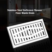 Edelstahl Bodenablauf 200x100mm Duschablauf Boden Abfall Ablauf für Küche Bad dl