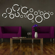24pcs Home Decor Wall Sticker Decal Decoration Mirror Mural Vinyl Art Design New