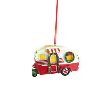 Happy Campers Resin Ornament, Red/White/Green, 3-Inch