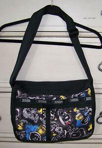 Lesportsac chalkboard Peanuts snoopy black crossbody bag