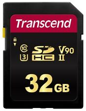 32GB Transcend 700S SDHC UHS-II U3 V90 SD Memory Card CL10 285MB/sec MLC Flash