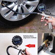 Car Motorcycle Digital Tire Pressure Gauge Meter Tire Air Inflator Tool 220PSI