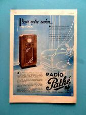 publicité ancienne LE POSTE DE RADIO PATHE  1935   (EM3)