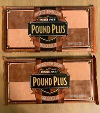 2 X TRADER JOE'S Pound Plus Belgium DARK CHOCOLATE - HUGE BARS 2+ lbs
