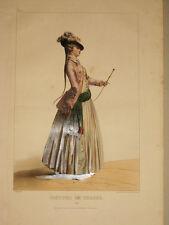 Caza.Litografia en color original.Deveria.Paris 1844