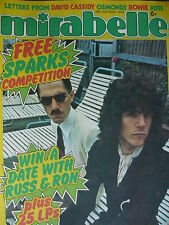 MIRABELLE MAGAZINE 26TH OCT 1974 - SPARKS - NEW SEEKERS - ALICE COOPER