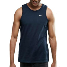 Nike Vest Tank Top Foundation Small Tick Swoosh Summer Fashion Sports Running S Navy
