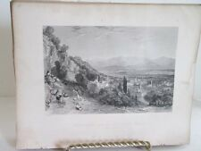 Vintage Print,GUZEL HASSAR,Fishers,Constantinople,Allom,c1860