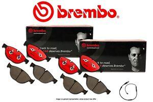 [FRONT+REAR] BREMBO NAO Premium Ceramic Disc Brake Pads + Sensor BB960238
