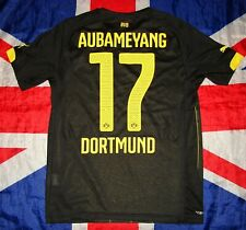 Borussia Dortmund Away Football Shirt Jersey Puma 2014 2016 Size S Aubameyang