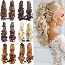 Womens long ponytail clip in human hair extensions ebay thick clip in pony tail hair extensions claw clip on ponytail as human piece pg pmusecretfo Choice Image