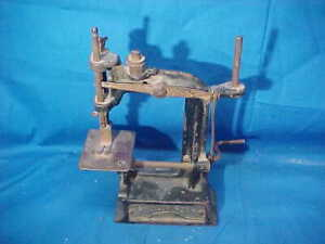 1897 SMITH + EGGE Cast Iron AUTOMATIC Toy SEWING MACHINE