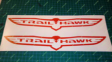 """2X TRAILHAWK VINYL DECAL 13"""" X 2"""" T-HAWK TRAIL HAWK many colors JEEP CHEROKEE"""