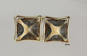 Vintage Cameo Cufflinks Incolay, marked S in the frame