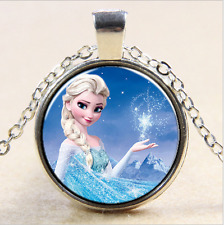 FROZEN PENDANT Silver Plated CHAIN NECKLACE ROYAL PRINCESS Anna & Elsa #03