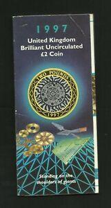 £2   1997   BRILLIANT UNCIRCULATED   IN  ROYAL MINT PACK   FIRST BI-METALIC