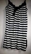 Target 12 Black striped v neck lace sequin stretch viscose Cami Tank Top
