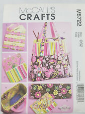 McCalls Crafts M5722 Satchel Circular Knitting Needle Organizer Pouch Bag Tote