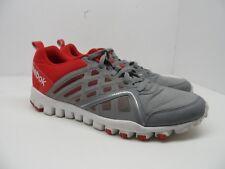 Reebok Men's Realflex Speed 3.0 Athletic Running Shoe Gray/Red Size 12M