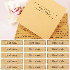 "80x Mini Letter ""Hand Made"" Print Sticker Kraft Seal Paper Gift Bag Decal Decor"