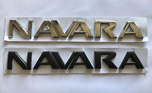 Nissan NAVARA Tailgate Badge (chrome or black)