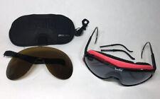 RARE Bolle 'CHRONO SHIELD' 80's Black Pink Ski Snow Glasses w/ Extra Lens + Case