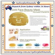 10 x GOLD BIO-COLLAGEN Facial Face Masks Skin Care Spa Anti-Aging Hydrating Mask