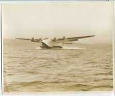 PAN AMERICAN BOEING 314 FLYING BOAT LARGE VINTAGE PHOTO CLIPPER WORLD AIRWAYS PA