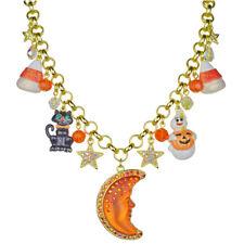 Kirks Folly Goddess Moon Shadow All Hallows Eve Necklace goldtone