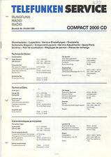 Telefunken Service Manual Schaltplan Compact 2000 CD  B1449